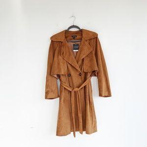 70s Suede Topshop Trench Coat